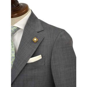 LARDINI【ラルディーニ】シングルスーツ ROW JM47005AQ EERP50490 43 ウール ピンドット グレー|cinqueclassico|04