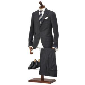 LARDINI【ラルディーニ】シングルスーツ JN0883AQ RP51494 1 ウール チェック グレー|cinqueclassico