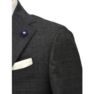 LARDINI【ラルディーニ】シングルスーツ JN0883AQ RP51494 1 ウール チェック グレー cinqueclassico 04