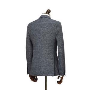 LARDINI【ラルディーニ】 シングルジャケット JM0526AQ EERP50588/1 コットンリネン メランジ ネイビー|cinqueclassico|02