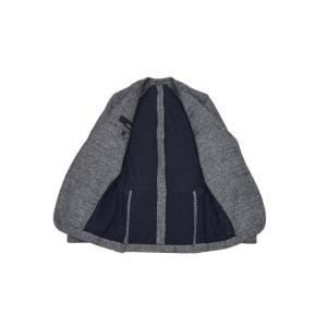 LARDINI【ラルディーニ】 シングルジャケット JM0526AQ EERP50588/1 コットンリネン メランジ ネイビー|cinqueclassico|03