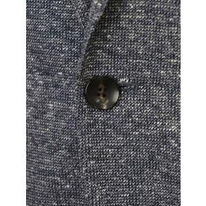 LARDINI【ラルディーニ】 シングルジャケット JM0526AQ EERP50588/1 コットンリネン メランジ ネイビー|cinqueclassico|06