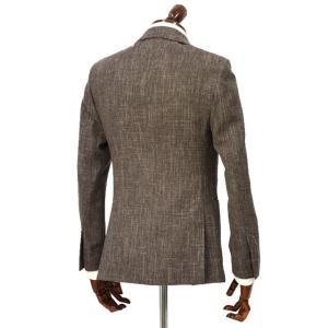 LARDINI【ラルディーニ】 シングルジャケット JP0526AQ RP52593 12  ウール コットン リネン メランジ ブラウン|cinqueclassico|02