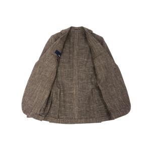 LARDINI【ラルディーニ】 シングルジャケット JP0526AQ RP52593 12  ウール コットン リネン メランジ ブラウン|cinqueclassico|03