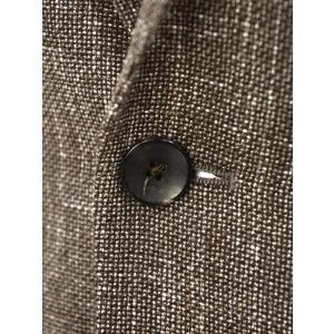 LARDINI【ラルディーニ】 シングルジャケット JP0526AQ RP52593 12  ウール コットン リネン メランジ ブラウン|cinqueclassico|05