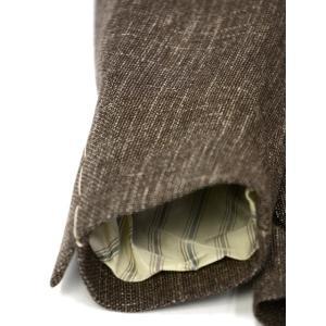 LARDINI【ラルディーニ】 シングルジャケット JP0526AQ RP52593 12  ウール コットン リネン メランジ ブラウン|cinqueclassico|06