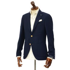 先行販売 早得 【袖修理無料】LARDINI【ラルディーニ】 シングルジャケット JP0526YQ RP52588 4  ウール トラベル からみ織り ネイビー|cinqueclassico