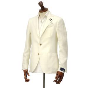 LARDINI【ラルディーニ】 シングルジャケット JP0903AQ EGC52501 1  EASY ウール リネン アイボリー|cinqueclassico