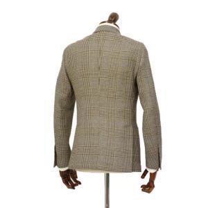 LARDINI【ラルディーニ】 シングルジャケット JP0526AQ RP52599 6 ウール  リネン シルク グレンプレイド  ブラウン|cinqueclassico|02