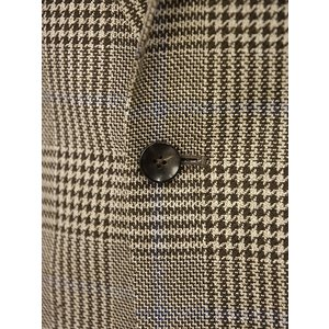 LARDINI【ラルディーニ】 シングルジャケット JP0526AQ RP52599 6 ウール  リネン シルク グレンプレイド  ブラウン|cinqueclassico|05