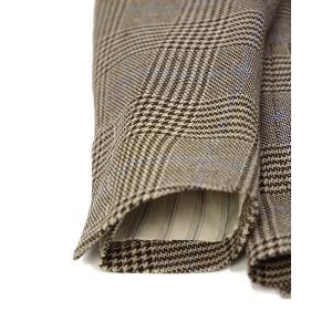 LARDINI【ラルディーニ】 シングルジャケット JP0526AQ RP52599 6 ウール  リネン シルク グレンプレイド  ブラウン|cinqueclassico|06