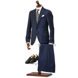 LARDINI【ラルディーニ】シングルスーツ JP0866AQ EGC52402 9  ウール ストライプ ブルー|cinqueclassico