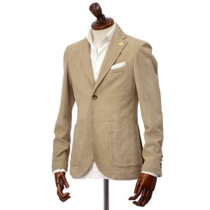 LARDINI【ラルディーニ】 シングルジャケット JPLJK2 EG52070 420 シープスキン ベージュ|cinqueclassico