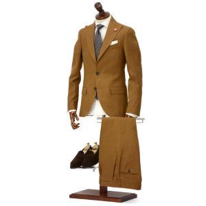 LARDINI【ラルディーニ】シングルピークドスーツ JP0761AQ EGRP52485 5 リネン テラコッタ|cinqueclassico