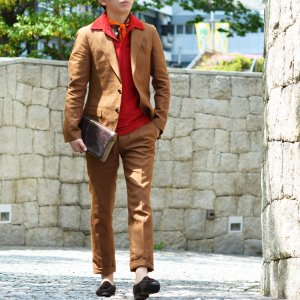 LARDINI【ラルディーニ】シングルピークドスーツ JP0761AQ EGRP52485 5 リネン テラコッタ|cinqueclassico|12