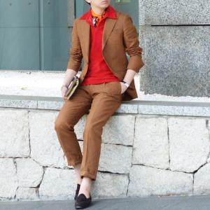 LARDINI【ラルディーニ】シングルピークドスーツ JP0761AQ EGRP52485 5 リネン テラコッタ|cinqueclassico|14