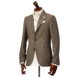 LARDINI【ラルディーニ】 シングルジャケット JP0903AQ EGA52522 2  EASY コットン ウール  ブラウン|cinqueclassico
