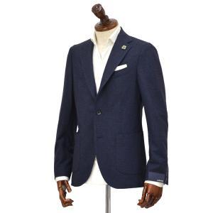 LARDINI【ラルディーニ】 シングルジャケット JN0560AQ42 IGRJ51516/4/1 ウール コットン ジャージー ネイビー|cinqueclassico