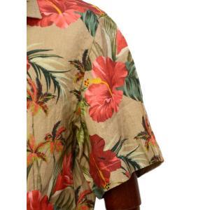 Mario Muscariello【マリオムスカリエッロ】オープンカラーシャツ HONOLULU mu952.xpf#6 リネン ボタニカル ベージュ|cinqueclassico|05