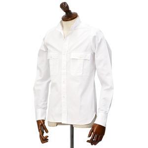 Mario Muscariello【マリオムスカリエッロ】スタンドカラーシャツ STAND DO1CP 2003 コットン ホワイト|cinqueclassico