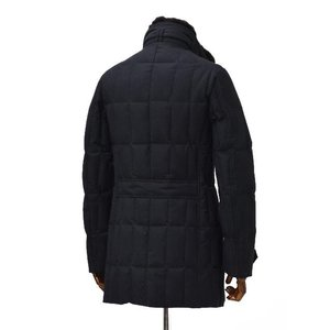 MOORER【ムーレー】セミロングダウンジャケット VALENTE-LL  BLU ヴァージンウール カシミア ネイビー|cinqueclassico|02