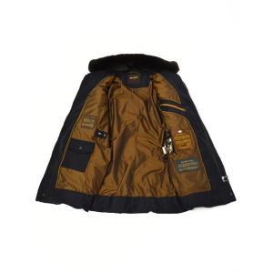 MOORER【ムーレー】セミロングダウンジャケット VALENTE-LL  BLU ヴァージンウール カシミア ネイビー|cinqueclassico|03