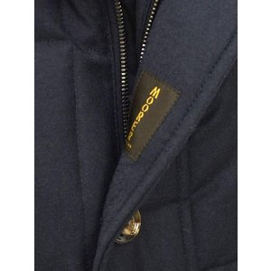 MOORER【ムーレー】セミロングダウンジャケット VALENTE-LL  BLU ヴァージンウール カシミア ネイビー|cinqueclassico|06