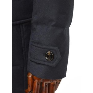 MOORER【ムーレー】セミロングダウンジャケット VALENTE-LL  BLU ヴァージンウール カシミア ネイビー|cinqueclassico|07