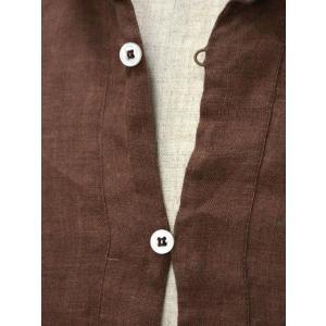 Mario Muscariello【マリオムスカリエッロ】 カプリシャツ R2MC0146 リネン ブラウン cinqueclassico 04