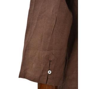 Mario Muscariello【マリオムスカリエッロ】 カプリシャツ R2MC0146 リネン ブラウン cinqueclassico 05