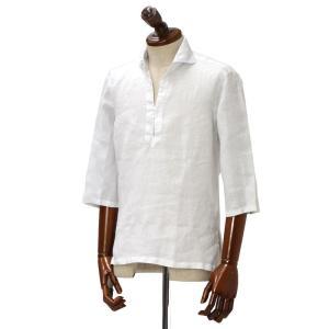 Mario Muscariello【マリオムスカリエッロ】 カプリシャツ R2MC0145 リネン ホワイト|cinqueclassico