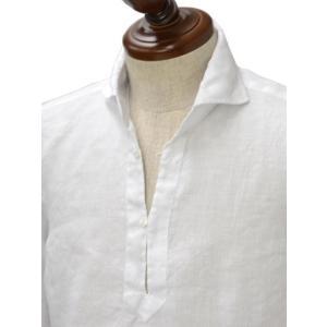 Mario Muscariello【マリオムスカリエッロ】 カプリシャツ R2MC0145 リネン ホワイト|cinqueclassico|02