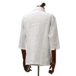 Mario Muscariello【マリオムスカリエッロ】 カプリシャツ R2MC0145 リネン ホワイト|cinqueclassico|03