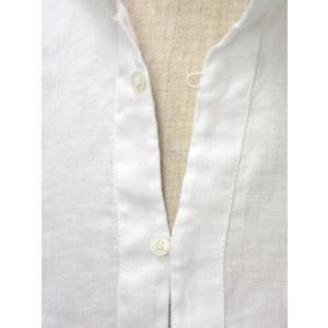 Mario Muscariello【マリオムスカリエッロ】 カプリシャツ R2MC0145 リネン ホワイト|cinqueclassico|04