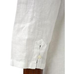 Mario Muscariello【マリオムスカリエッロ】 カプリシャツ R2MC0145 リネン ホワイト|cinqueclassico|05