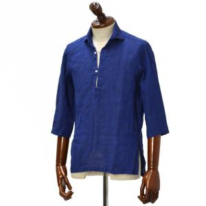 Mario Muscariello【マリオムスカリエッロ】 カプリシャツ R2MC0147 リネン ブルー|cinqueclassico