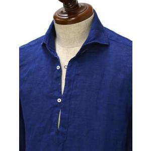 Mario Muscariello【マリオムスカリエッロ】 カプリシャツ R2MC0147 リネン ブルー|cinqueclassico|02