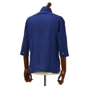 Mario Muscariello【マリオムスカリエッロ】 カプリシャツ R2MC0147 リネン ブルー|cinqueclassico|03