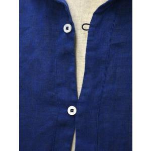 Mario Muscariello【マリオムスカリエッロ】 カプリシャツ R2MC0147 リネン ブルー|cinqueclassico|04