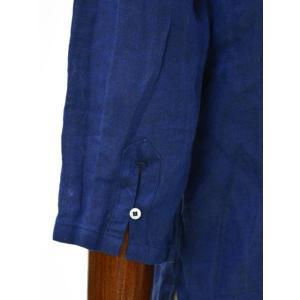 Mario Muscariello【マリオムスカリエッロ】 カプリシャツ R2MC0147 リネン ブルー|cinqueclassico|05