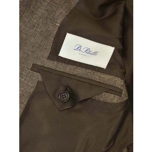 De Petrillo【デ ペトリロ】ダブルジャケット VESUVIO TS18068U/193 ウール リネン ブラウン cinqueclassico 06
