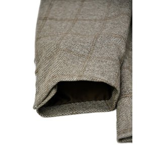 De Petrillo【デ ペトリロ】シングルジャケット Posillipo TW18111F/244 カシミア ウィンドペーン ベージュ×ブラウン|cinqueclassico|05
