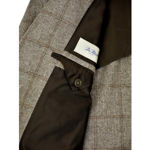 De Petrillo【デ ペトリロ】シングルジャケット Posillipo TW18111F/244 カシミア ウィンドペーン ベージュ×ブラウン|cinqueclassico|07