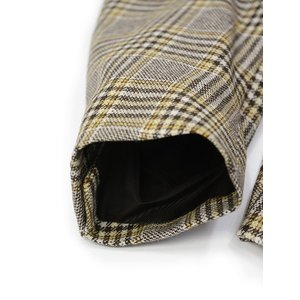 De Petrillo【デ ペトリロ】ダブルジャケット VESUVIO TW20155F/397 ウール カシミヤ グレンプレイド ブラウン×イエロー cinqueclassico 05