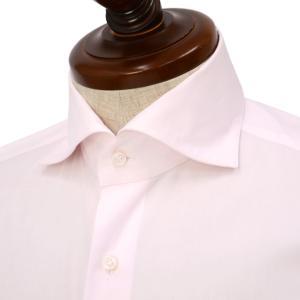 Maria Santangelo【マリアサンタンジェロ】ドレスシャツ VESVIO PIUMINO 100 2 F352831 33 コットン ツイル  ピンク|cinqueclassico
