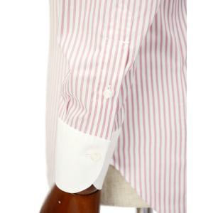 Maria Santangelo【マリアサンタンジェロ】ドレスシャツ TAB PIUM TWILL F357135 35BB コットン ストライプ クレリック  ピンク×ホワイト|cinqueclassico|06