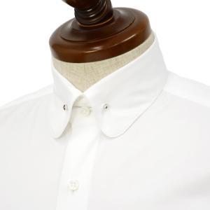 Maria Santangelo【マリアサンタンジェロ】ドレスシャツ BYRON PINS DUKE F357572 1AA コットン ツイル  ホワイト|cinqueclassico