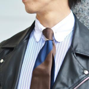Maria Santangelo【マリアサンタンジェロ】ドレスシャツ BYRON PINS PIUMINO 100-120 F357109 15BB  コットン ストライプ クレリック ブルー×ホワイト cinqueclassico 07
