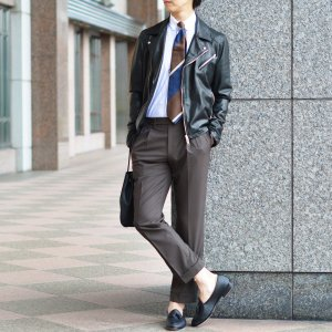 Maria Santangelo【マリアサンタンジェロ】ドレスシャツ BYRON PINS PIUMINO 100-120 F357109 15BB  コットン ストライプ クレリック ブルー×ホワイト cinqueclassico 08