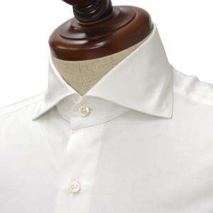 Maria Santangelo【マリアサンタンジェロ】ドレスシャツ VESVIO ENZO 353089 1 コットン ロイヤルオックスフォード ホワイト|cinqueclassico